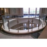 Buy cheap Brushed / Polished Stainless Steel Balustrade Posts 316 Marine Grade from wholesalers