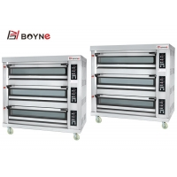 Buy cheap 220V Gas Type  Stainless Steel Commercial Microcomputer Three Deck Nine Trays Bakery Oven from wholesalers