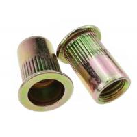 Buy cheap M3 - M12 Blind Flat Head Rivet Nut Knurled Carbon Steel Yellow Zinc Plated from wholesalers