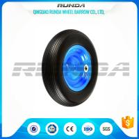 Buy cheap 4inches Solid PU Foam Wheel, Line Pattern Polyurethane Caster Wheels 4.00-8 from wholesalers