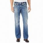Buy cheap Men's slub indigo wash denim fashionable jeans from wholesalers