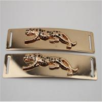 Buy cheap High Quality Light Gold Shoelaces Accessories Engraved Embossed Leopard Metal Buckle For Shoe from wholesalers