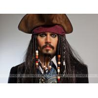 Buy cheap Jack Sparrow wax figure / Realistic Celebrity Wax Figures Pirates of the Caribbean / movie waxwork from wholesalers