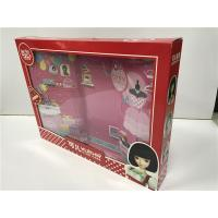 Buy cheap Red Pink Doll Packaging Boxes Glossy Varnish Flexible Height / Weight / Capacity from wholesalers