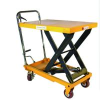 Buy cheap 150kgs Hand Electric Scissor Hydraulic Lift Table Work Lift Platforms from wholesalers