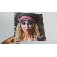 Buy cheap Lenticular Greeting Card with beautiful girl changes to terrible face,morph effect product