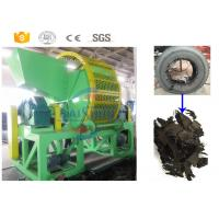 Buy cheap Twin Shaft Tire Shredding Machine / Automated Waste Tire Recycling Machine from wholesalers