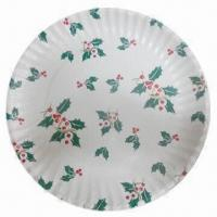 Buy cheap 7 inches disposable plate with printing and customized specifications from wholesalers