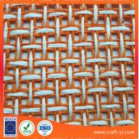 Buy cheap orange white color woven mesh fabric Textiles cloth in natural straw paper material from wholesalers