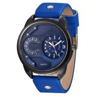 Buy cheap Big size Round Alloy Wrist Watch , Custom Design Metal Material Genuine Leather Strap Japan Movement Fashion Watch ,OEM from wholesalers
