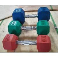 Buy cheap Commercial Dumbbell Gym Dumbbells 5 10 20 30 40 50KG Hexagonal Plastic Fixed Dumbbells from wholesalers