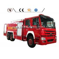 Buy cheap HOWO 6 By 4 Foam Firefighter Truck With 12000L Water Tank And 2000L Foam Tank from wholesalers