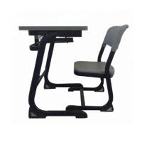 Buy cheap Classroom Steel School Furniture Study Desk And Chair Customized Size / Color from wholesalers