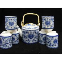 Buy cheap Blue Design Ceramic Chinese Teapot And Cup Set Coffee Set For For Hotel And Home from wholesalers
