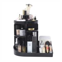 Buy cheap 2 in 1 makeup display rack storage case 360 degree rotating acrylic cosmetic storage organizer from wholesalers