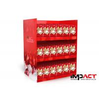 Buy cheap Red Cardboard POS Display Stands For Christmas Card , CMYK 4C Offset Printing from wholesalers