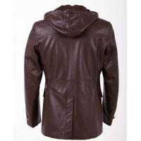 Buy cheap Luxury and leisure Size  44 48 60 54 Young Mens Fashionable  Hooded PU Leather Coat product