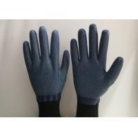 Buy cheap Anti Slip Granule Black Latex Gloves , Latex Dipped Work Gloves Comfortable Hand Feeling from wholesalers