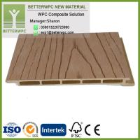Buy cheap Hot Insulation Waterproof Fireproof Exterior Wood Plastic Wall Panel 3D Wood Grain Decorative WPC Wall Cladding from wholesalers