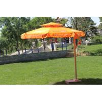 Double Layer Roma Offset Umbrella , Large Round Patio Umbrellas Parasols