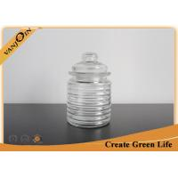 Buy cheap Crystal Kitchen Glass Storage Jars with Lids Food Stocking 250ml Clear Glass Spice Jars from wholesalers