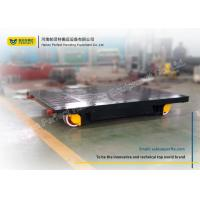 Buy cheap Black Flatbed Rail Transfer Cart Heavy Load Foundry Transport Car Trailer from wholesalers
