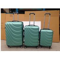 4 Wheel Carry On ABS Trolley Luggage , Lightweight 3 Pcs Luggage Travel Set Bag