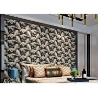 Buy cheap Household Modern Flocked Wallpaper For Bedroom Walls , Non Woven Materials from wholesalers