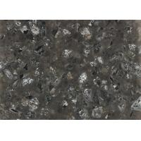 Buy cheap Black Galaxy Sparkle Quartz Countertop Slabs For Kitchen Acid Resistant from wholesalers