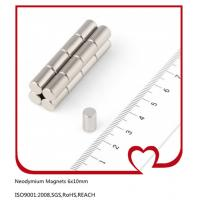 Buy cheap 6mm dia x 10mm thick Cylinder Neodymium Magnets Rod Nickel(Ni-Cu-Ni) from wholesalers
