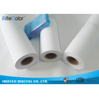 Buy cheap 42 / 44 Matte Coated Inkjet Paper Rolls Wide Format Printing Anti Fading from wholesalers