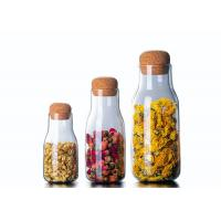Buy cheap 150-600ml Empty Glass Jars , Decorative Glass Bottles With Cork Lids from wholesalers
