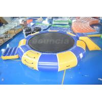 Buy cheap 0.9mm PVC Tarpaulin Inflatable Water Trampoline Combo For Water Sports from wholesalers