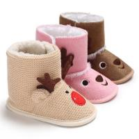 Buy cheap 2019 winter Cotton fabric animal cute deer warm indoor infant Walking shoes baby boots from wholesalers