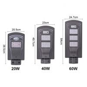 China Super Brightness Solar LED Street Lights High Efficiency 20W 40W 60W on sale
