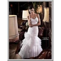 Buy cheap 2015 new design fashon organza ruffles with flower wedding dress from wholesalers