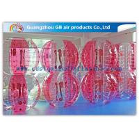 Buy cheap Pink Human Inflatable Bubble Ball / Inflatable Ball Suit Soccer For Rental Business from wholesalers