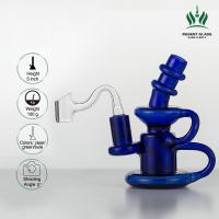 Buy cheap Mini Recycler Scientific Glass Bong , Showerhead Perc Glass Water Pipe from wholesalers