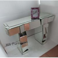 Buy cheap Artificial Mirror Furniture Set Angled Facet Glass Mirrored Stand Desk from wholesalers