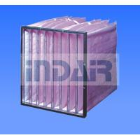 Buy cheap Non Woven Pocket / Bag HVAC Air Filters With High Lofted Synthetic Fiber Media from wholesalers