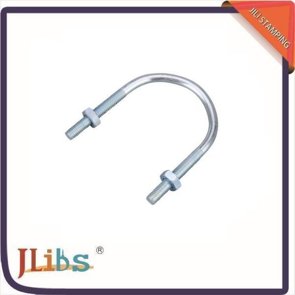Zinc plated hot rolled steel u bolt bracket pipe