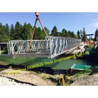 Buy cheap Customized Steel Bailey Bridge Portable Modular Structural Steel Bridge from wholesalers