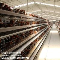 Buy cheap Galvanized Mesh Layer Poultry Chicken Rearing Cages For 10000birds Poultry Chicken Coops Design from wholesalers
