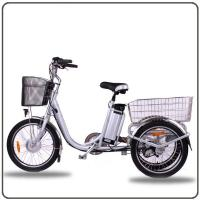 Buy cheap CE Approved 36V 250W White Electric Tricycles Lithium Battery 3 Wheel Electric Bike from wholesalers