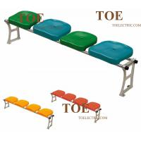 Buy cheap Indoor outdoor plastic seat soccer stadium chairs with matel stand leg aliumnium from wholesalers