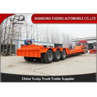 Buy cheap Detachable Gooseneck Lowboy Semi Trailer , Three Axle Low Bed Truck Trailer from wholesalers