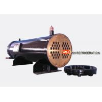 Buy cheap 122KW Industrial Shell And Tube Water Cooled Condenser , Refrigerator Condenser Tube from wholesalers
