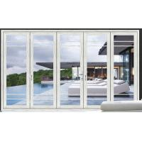 Buy cheap White Double Folding Doors / Clear Collapsible Patio Doors With Glass from wholesalers