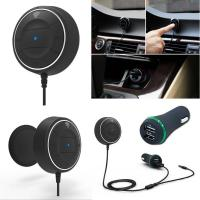 Buy cheap AUX Bluetooth 3.5mm Audio Output Receiver Car Kit Handsfree calling from wholesalers