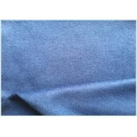 26% Wool Stretch Fabric For Suit Coat , Blue Soft Wool FabricIn Stock
